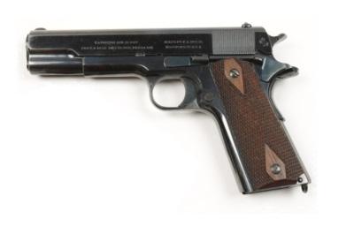 pistolet colt 1911 amunicja .45auto produkcji usa fabryka strzelania