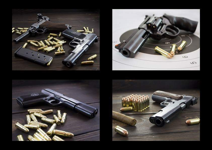 pistolety dostępne w fabryce strzelania centrum szkolenia strzleckiego